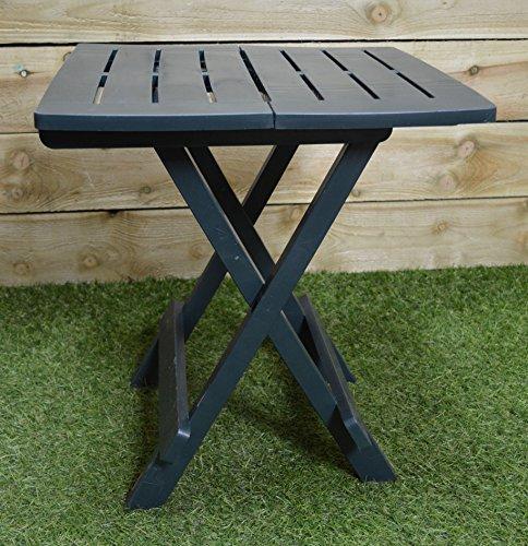 Garden / Camping Green Plastic Folding Table Easy Storage Caravanning