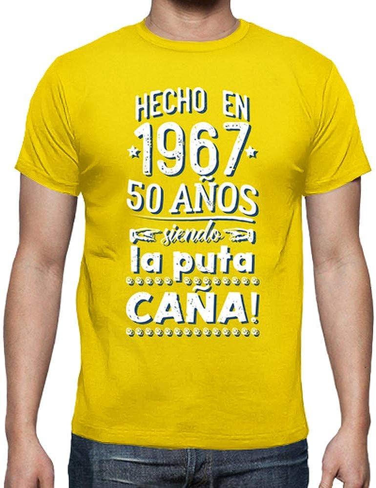 latostadora - Camiseta 50 Aos Siendo la Puta para Hombre: hello: Amazon.es: Ropa y accesorios