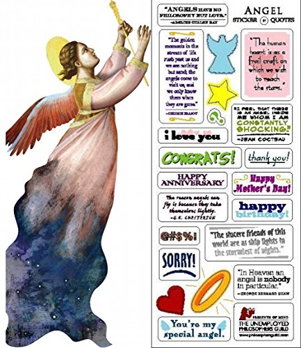 (Angel Quotable Notable - Die Cut Silhouette Greeting Card and Sticker Sheet)