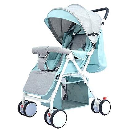 Cochecito Plegable para Bebé, Carro Portátil de Viaje - Cuerpo de Tubo de Acero y Paño de Lino - Carga de 15 kg, para Niños y Niñas de 0-3 Años