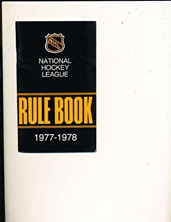 Amazon Com 1977 1978 Nhl Rule Book Media Press Guide Nhl Mg1