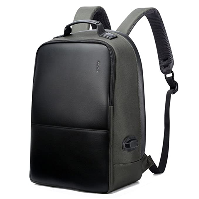 Kanpcelns Leather Travel Laptop Backpack