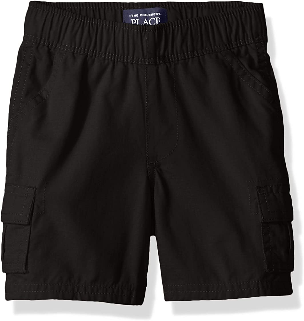 The Children's Place Boys' Baby and Toddler Uniform Pull on Cargo Shorts: Clothing