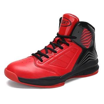 57f96ad8d98 Zapatos de baloncesto ligeros de los hombres Zapatillas de deporte  corrientes Zapatillas de deporte atléticas respirables al aire libre  Amazon .es  Deportes ...