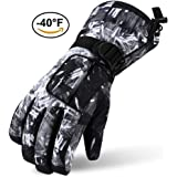 Ski Gloves, Lemonworld Snow Work Warm Gloves for Men Women Kids, Windproof& Waterproof Breathable Gloves With TPU Outdoor Cycling Sports
