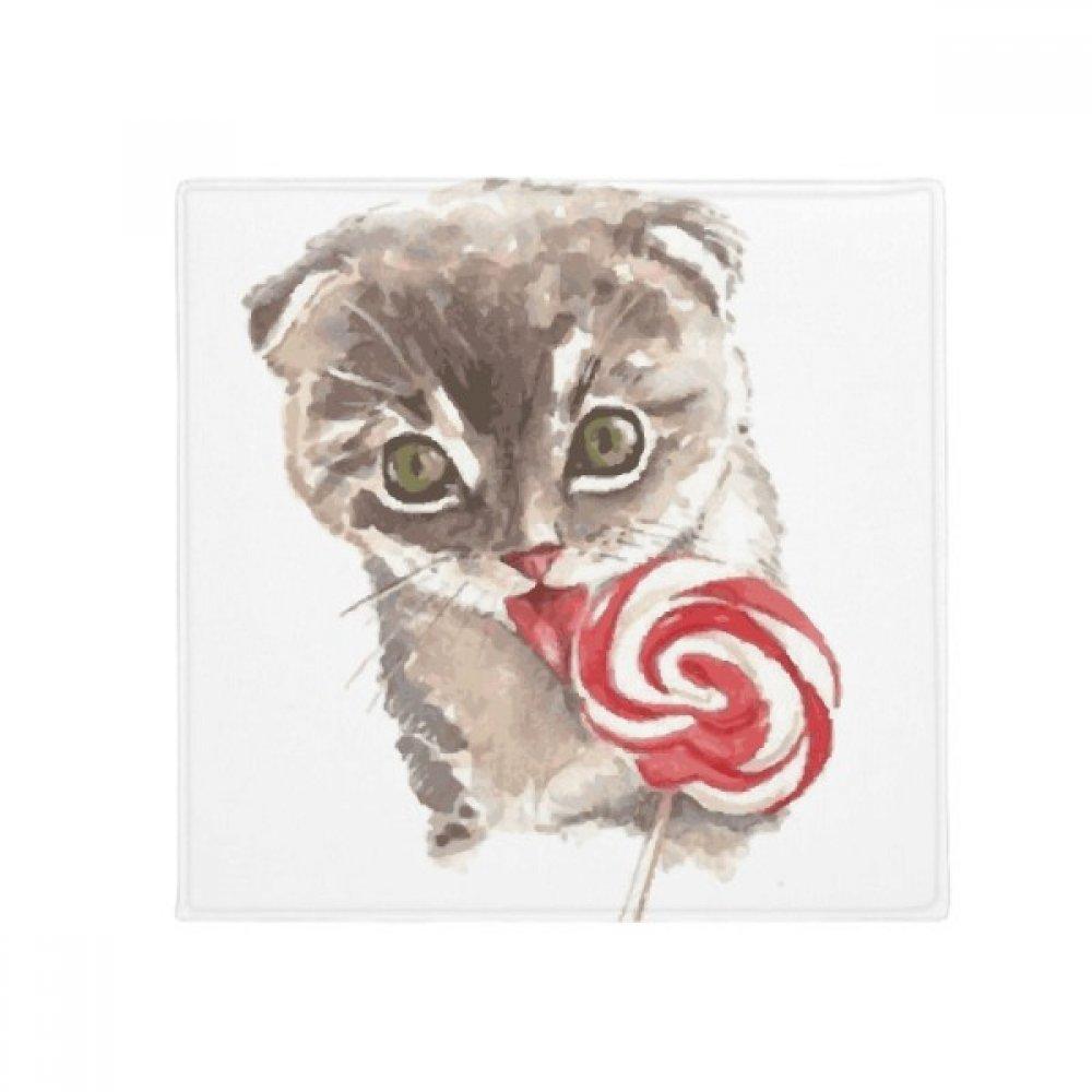 DIYthinker Little Cat Lollipop Watercolor Animal Anti-Slip Floor Pet Mat Square Home Kitchen Door 80Cm Gift