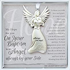 Always an Angel On Your Baptism Keepsake...