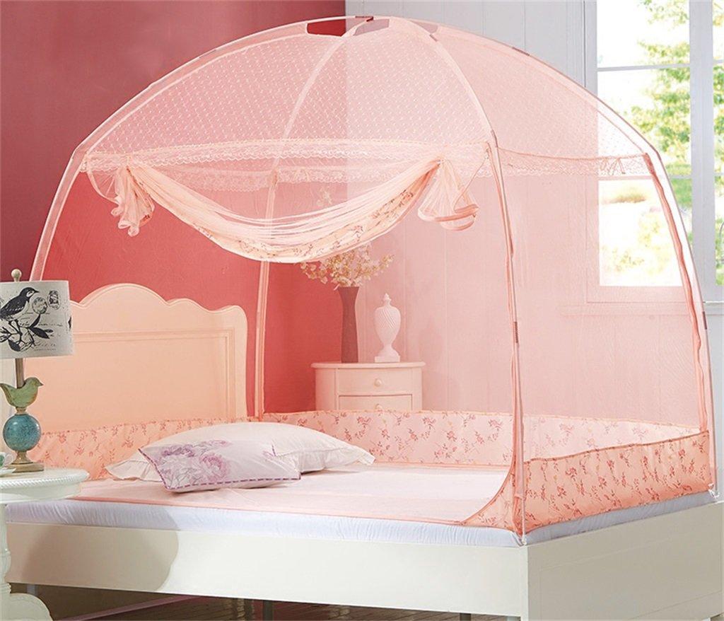 Moskitonetz-Bett-Überdachungs-Zelt-Vorhänge für Betten Schlafzimmer frei zu installieren faltender Reißverschluss-tragbarer Innenkampierender Student im Freien anwenden auf 1.5 / 1.8m Bett ( Farbe : B , größe : 1.5M )