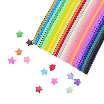Kentop Origami 300 Blatt Sterne Star Farbe Origami Papier Zum