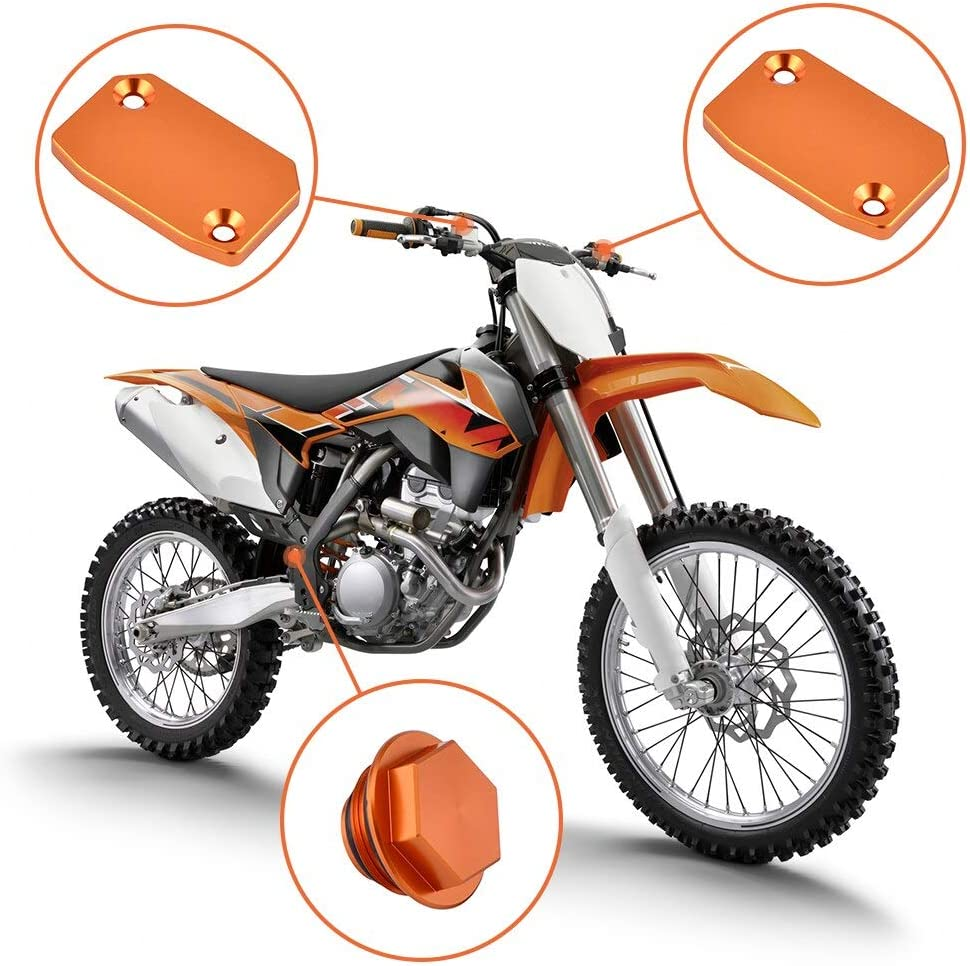 D-Simpleapparel Front Brake Cover Front Rear Brake Clutch Fluid Reservoir Master Cylinder Cover For Ktm 250 350 450 530 Sx Sxf Xcf Xcw Exc Excf Six Days