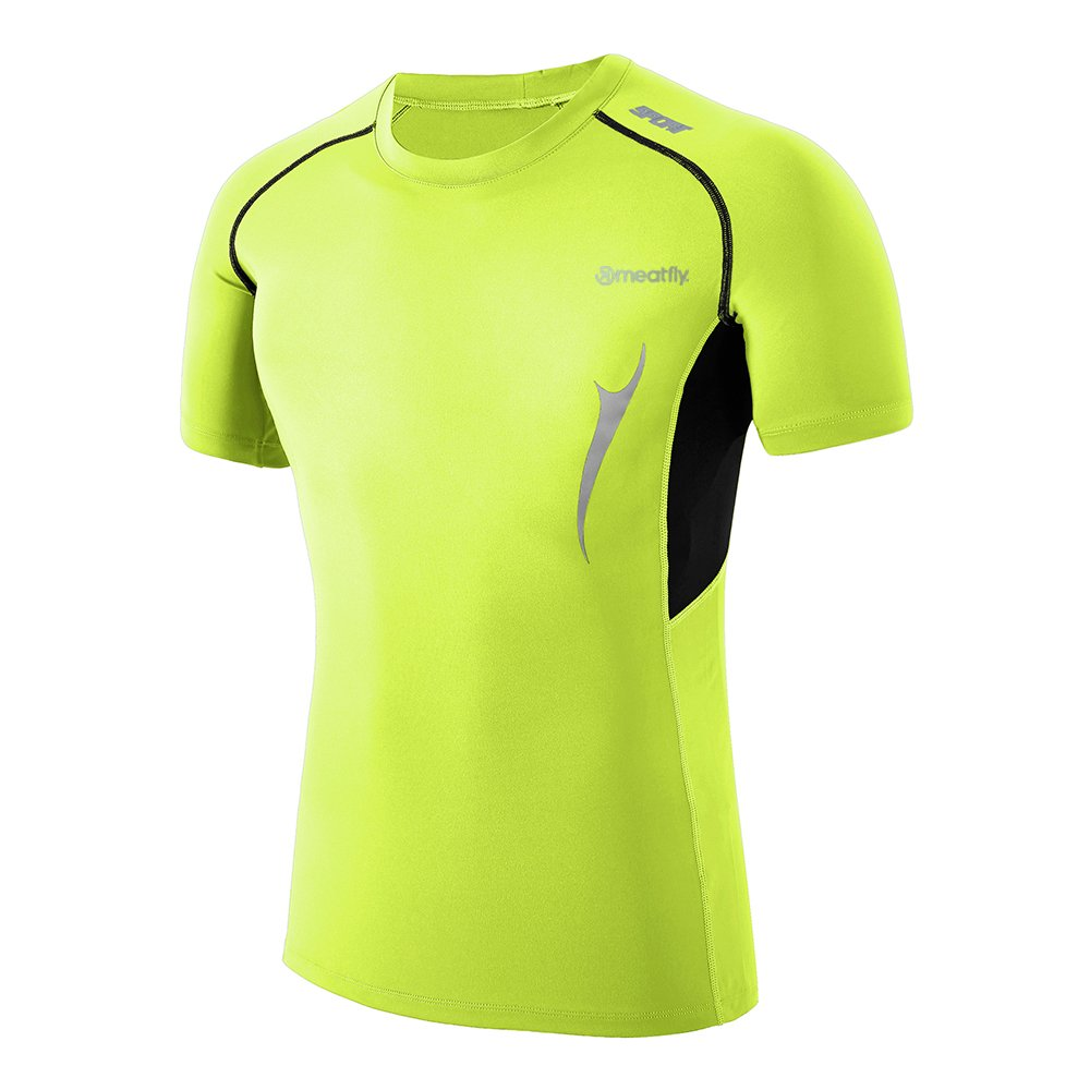 MEATFLY. Men's Hight Visibility Moisture Wicking Safety Running Rash Guard Swim Shirts