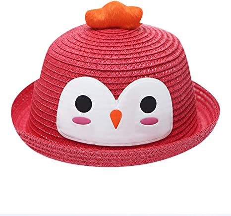 Summer Baby Cartoon Breathable Hat Straw Hat Kids Hat Boy Girls Sun Hat Cap 2-6Y