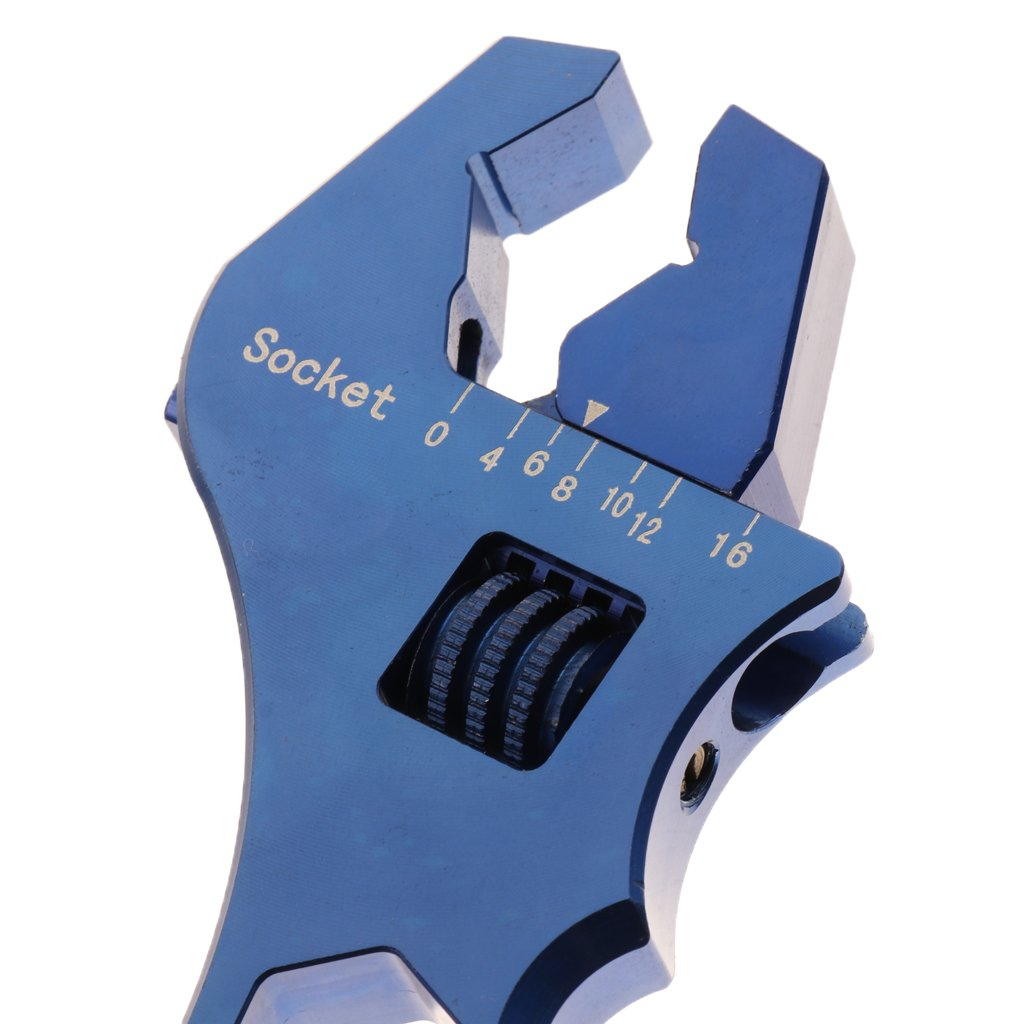 Baoblaze Car Oil Filter Wrench AN3 to AN16 Release Tool AN Fitting Spanner Adjustable - Blue by Baoblaze (Image #3)