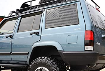Skull Daddy Graphics XJ Window Flags to fit Jeep Cherokee 1987-2001 XJ Window Flags DRIVER SIDE