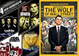 5 Film Favorites: Martin Scorsese Director The Wolf of Wall Street /The Departed / Goodfellas / Mean Streets / The Aviator Movie Bundle Collection