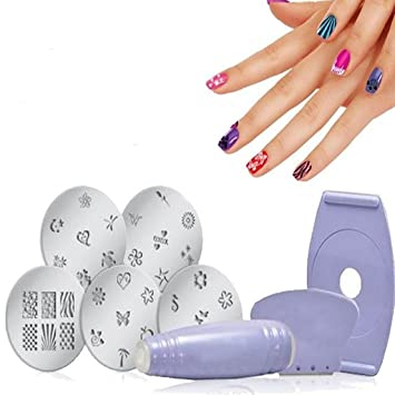 Amazon Manicure Decals Design Machine Nail Art Stamping Kit Set
