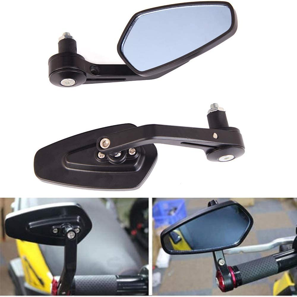 JFCUICAN Ricambi Auto 7//822mm Universale for Moto Vista Posteriore in Alluminio Manubrio Nero Specchietti retrovisori Laterali for assemblaggio Moto Color : Nero