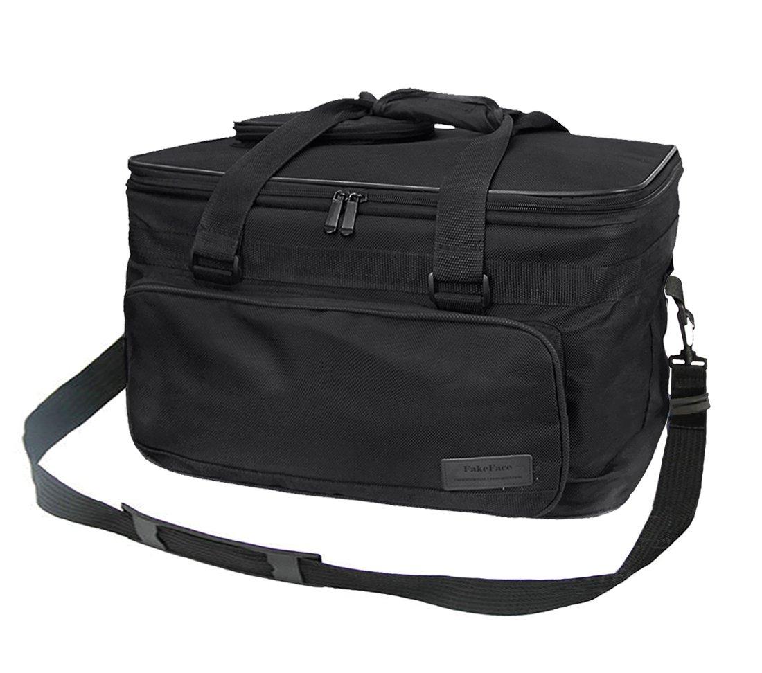 Capiente borsone in tessuto per trasportare strumenti per il disegno, organizer per schizzi, borsa da viaggio impermeabile per palette, pennelli, penne, matite, libri, Black, taglia unica LY
