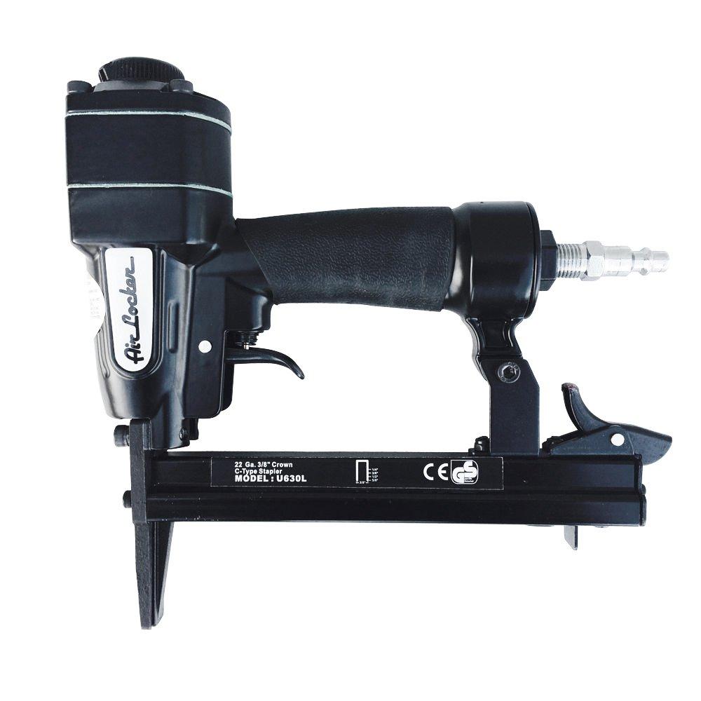 AIR LOCKER U630L-R 22 Gauge Long Nose (1-5/8 Inch) Upholstery Stapler (3/8 Crown) Staples 1/4-5/8 Inches by Air Locker