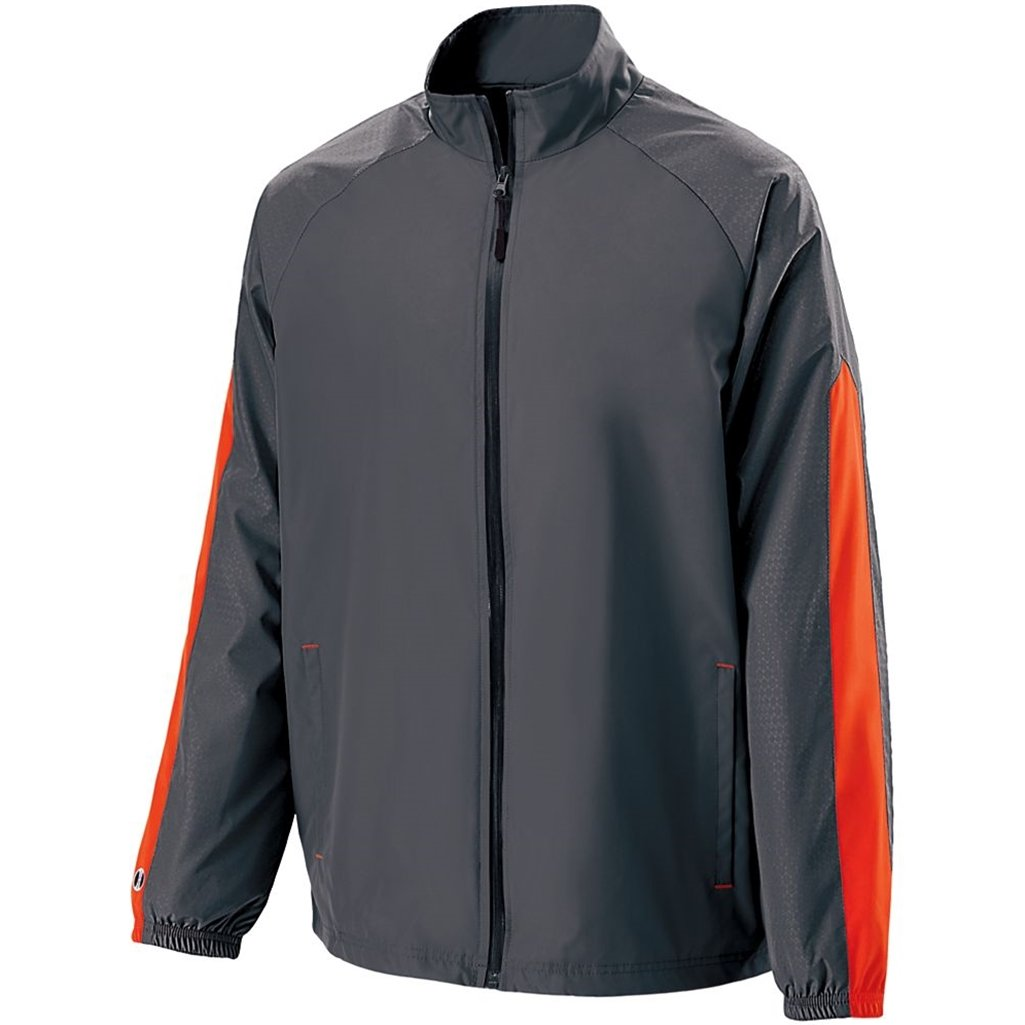 Holloway Youth Bionic Jacket (Small, Carbon/Orange) by Holloway
