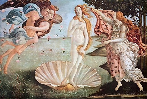 The Birth of Venus, c.1485 Art Poster Print by Sandro Botticelli, 36x24 Collections Art Poster Print by Sandro Botticelli, 36x24
