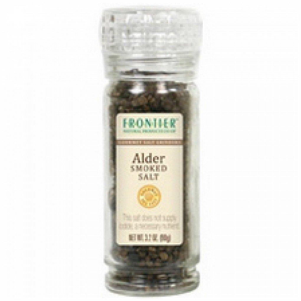 Frontier Natural Products Alder Smoke Salt,Grinder (6x3.2 Oz)