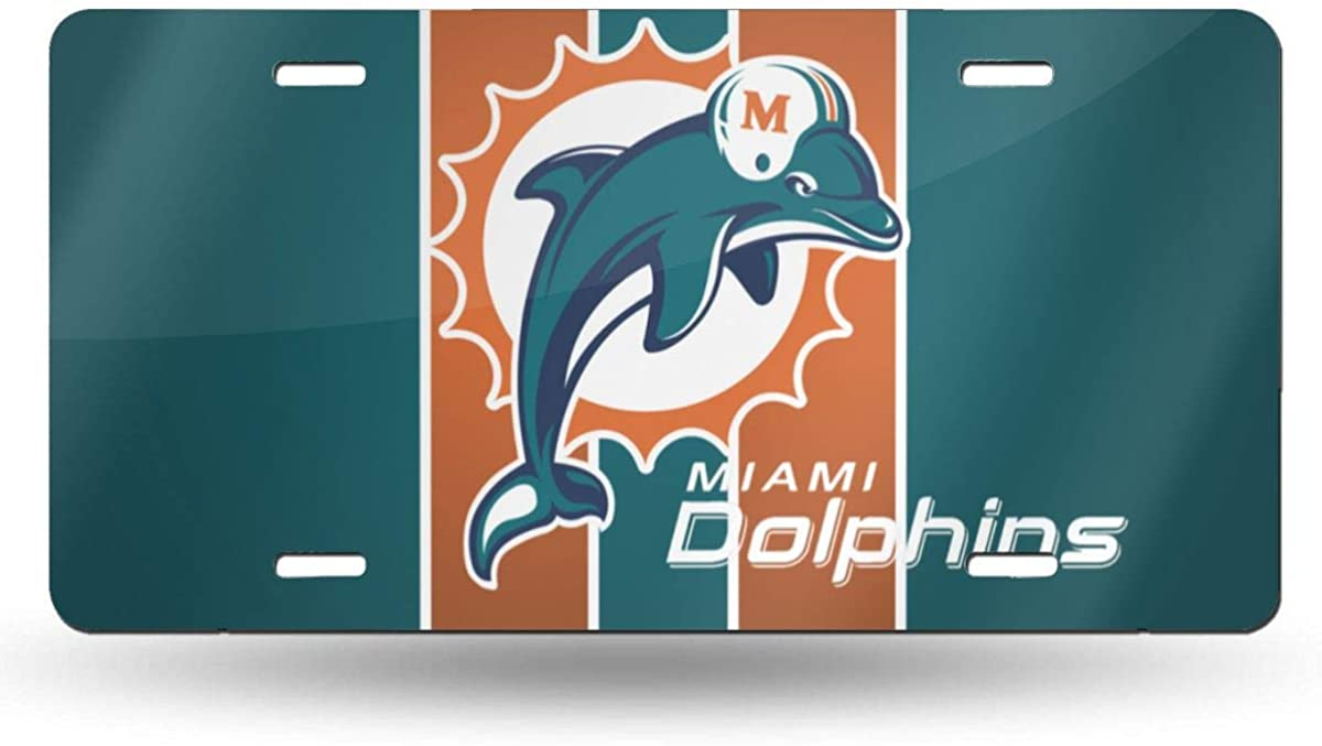 Yuedevil Miami Football Fans D-Olphins Imports 12 X 6 Cover Funny License Plate Decorate