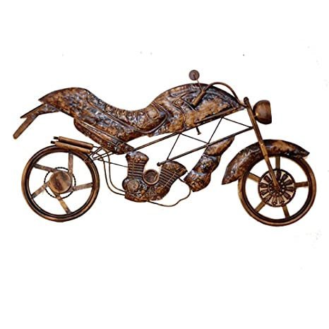 Metal Motorcycle Wall Art.Amazon Com Fenfouba New Metal Wall Art Decor Sculpture
