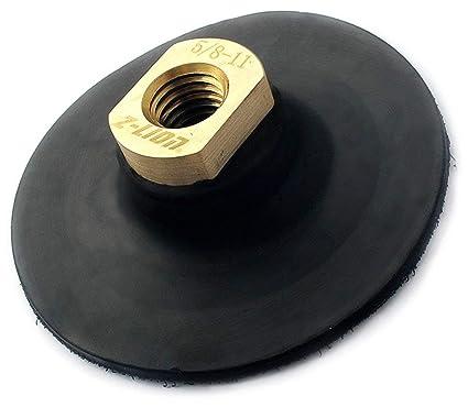 "4inch//100mm Flexible Backer Pad Holder for Hook /& Loop Diamond Pads 5//8/"" 11"