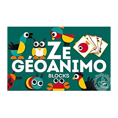 DJECO Ze Geoanimo Construction Toy, Green: Toys & Games