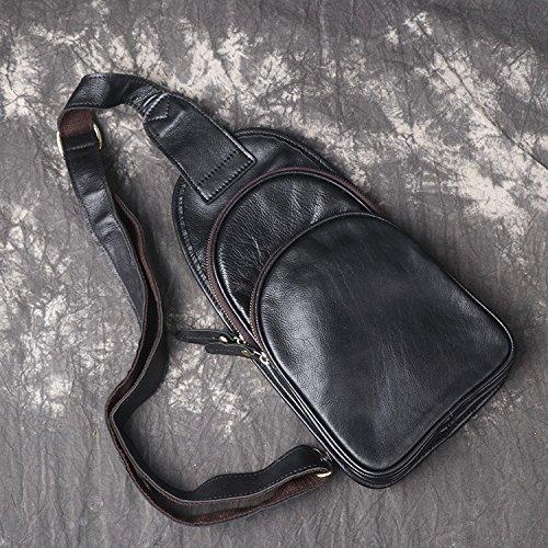 Hongrun Männer Brust pack, die Bewegung der mad Leder Einzel Schulter kleines Paket - ein Paket Tasche.