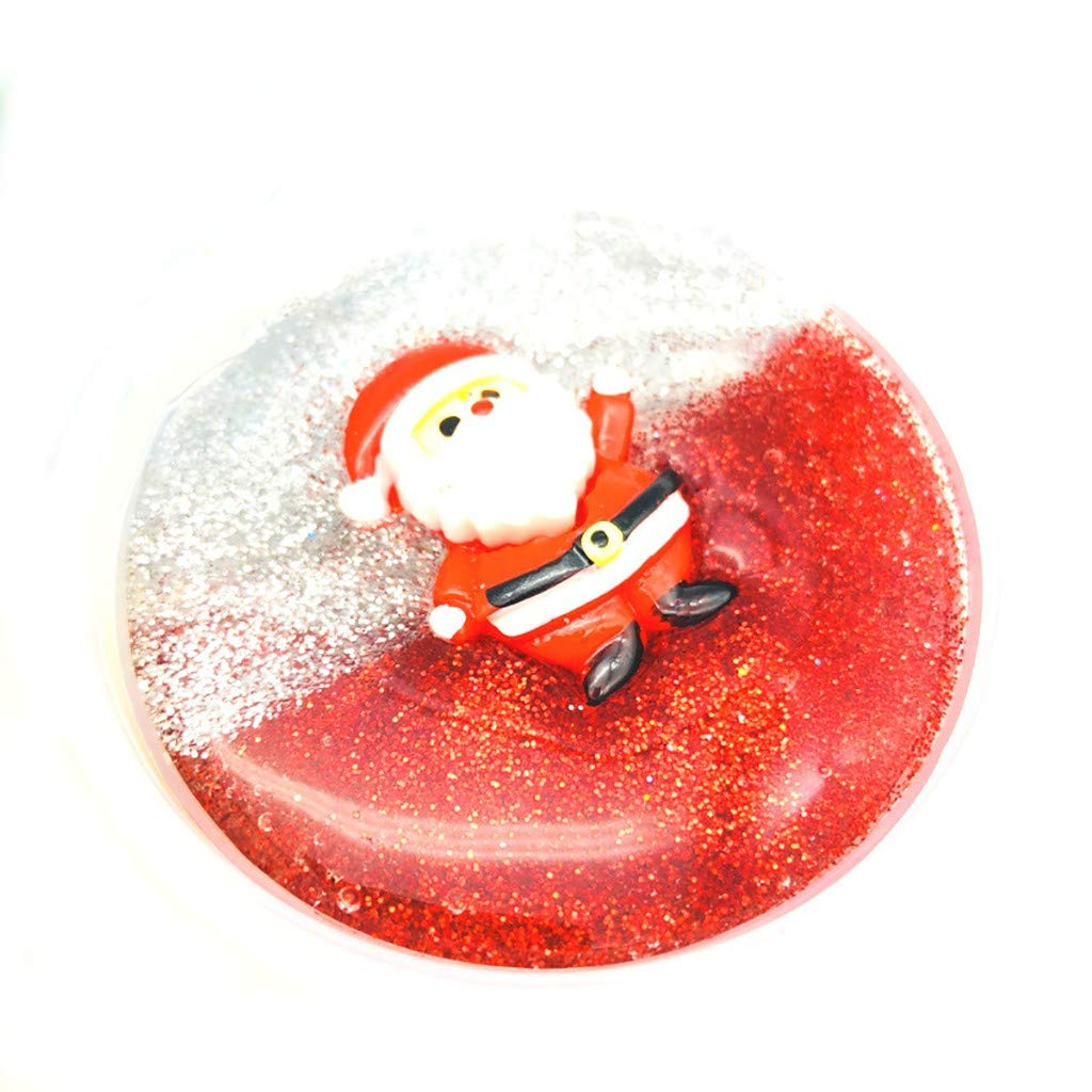 callm Christmas Snowflake Santa Claus Cloud Slime Putty Scented Kids Clay Toy 60ml