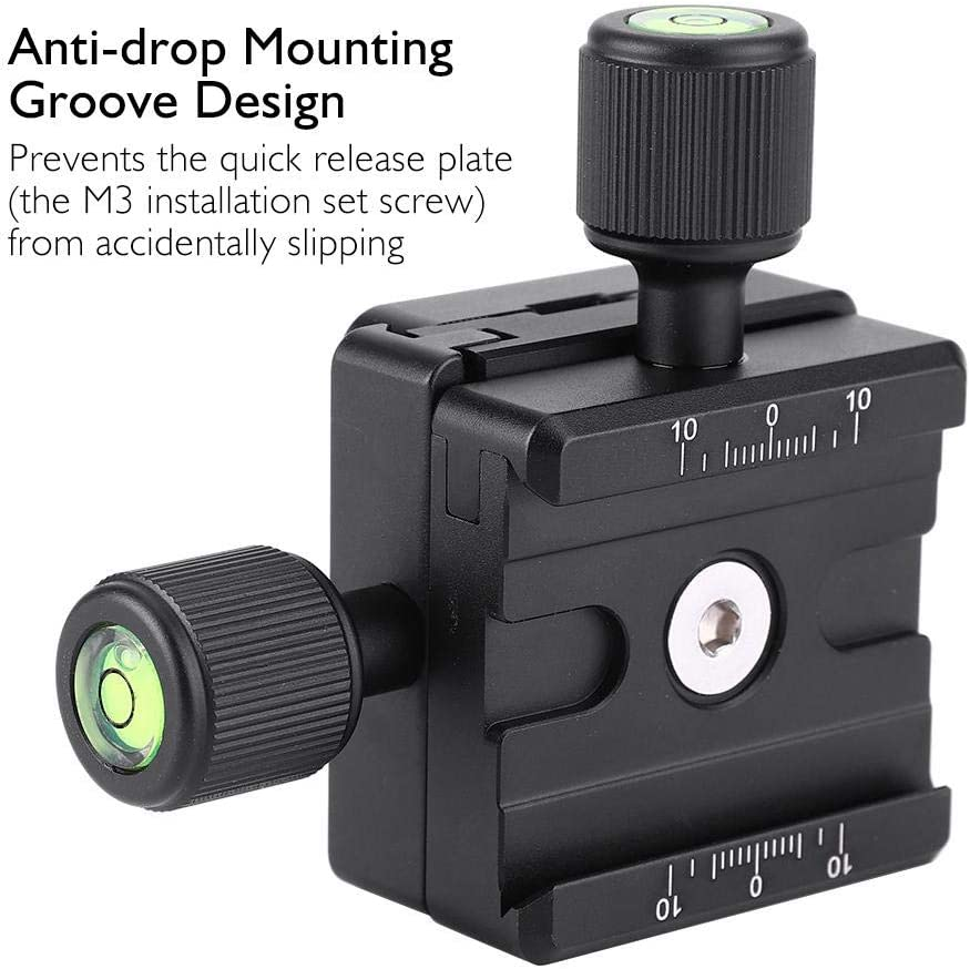 Camera Phone Lens,Universal Double Layer Quick Release Plate Holder 1//4/'/' Screw Quick Release Plate for Camera