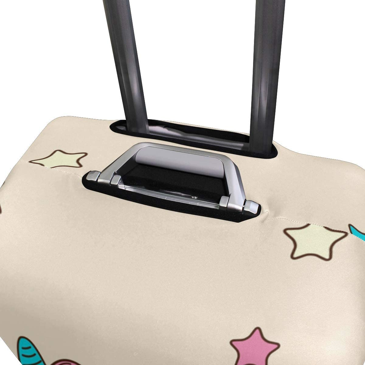 FOLPPLY Funny Pig Unicorn Flying Rainbow Stars Luggage Cover Baggage Suitcase Travel Protector Fit for 18-32 Inch