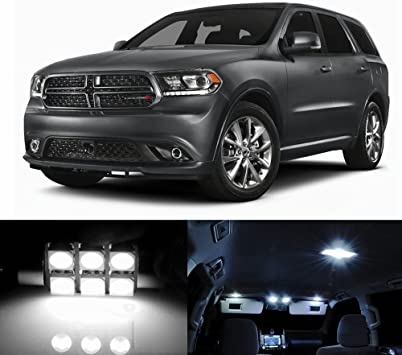 Amazon Com Skylightauto 18pcs Led Premium Xenon White Light Interior Package Deal For Dodge Durango 2011 2017 Automotive