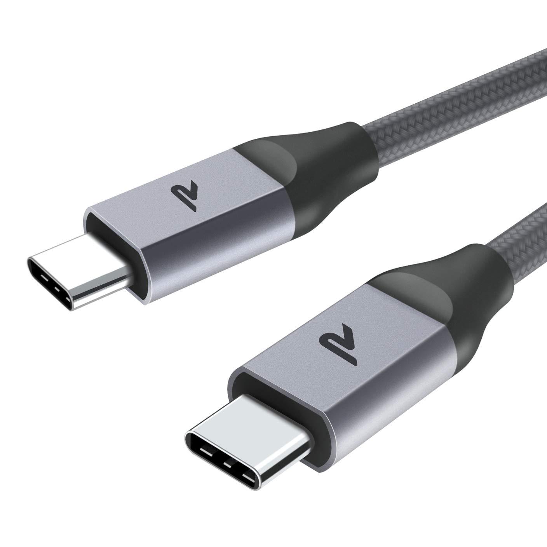 Rampow Cable USB C a USB C [20V/3A 60W] 2M Cable Tipo C a Tipo C con Power Delivery Compatible para Macbook Pro 2016/2017, ChromeBook Pixel/Pixel 2, ...