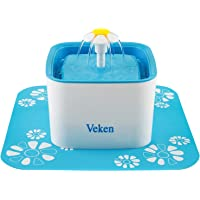 Veken Pet Fountain, 84oz/2.5L Automatic Cat Water Fountain Dog Water Dispenser with 3 Replacement Filters & 1 Silicone…