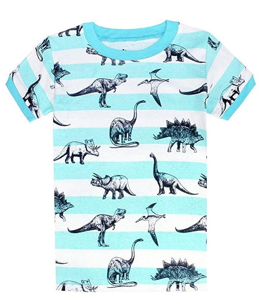 Size:2-10 Years Dearbee Dinosaur Little Boys Shorts 2 Piece Pajama 100/% Cotton