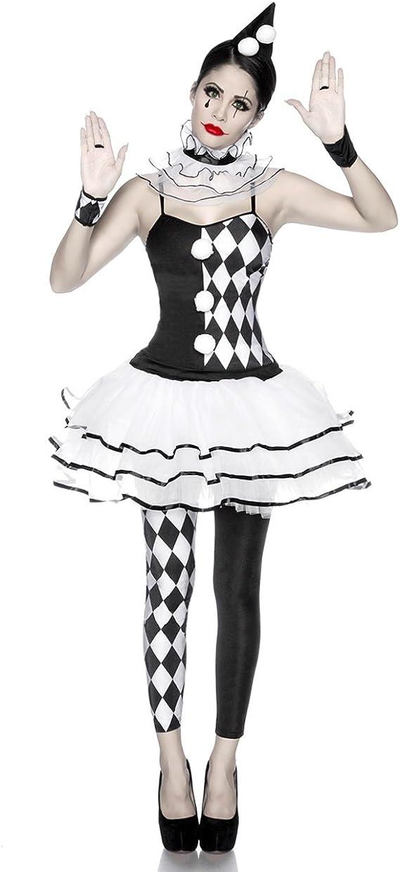 Atixo Harlekinkostüm Kleid Hut