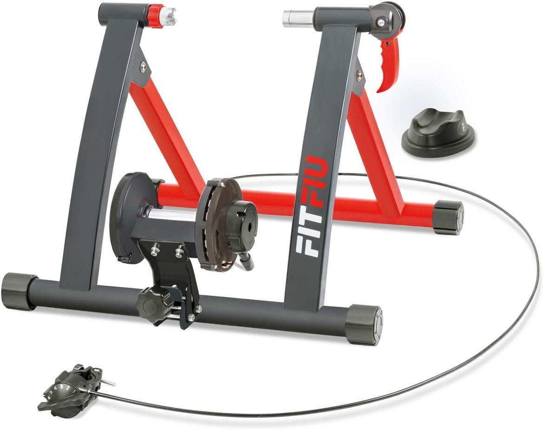 FITFIU Fitness ROB-10 - Rouleau de vélo pliant à résistance magnétique, Rouleau de vélo d'intérieur compatible avec des roues de 26 à 29 pouces pour l'entraînement à domicile