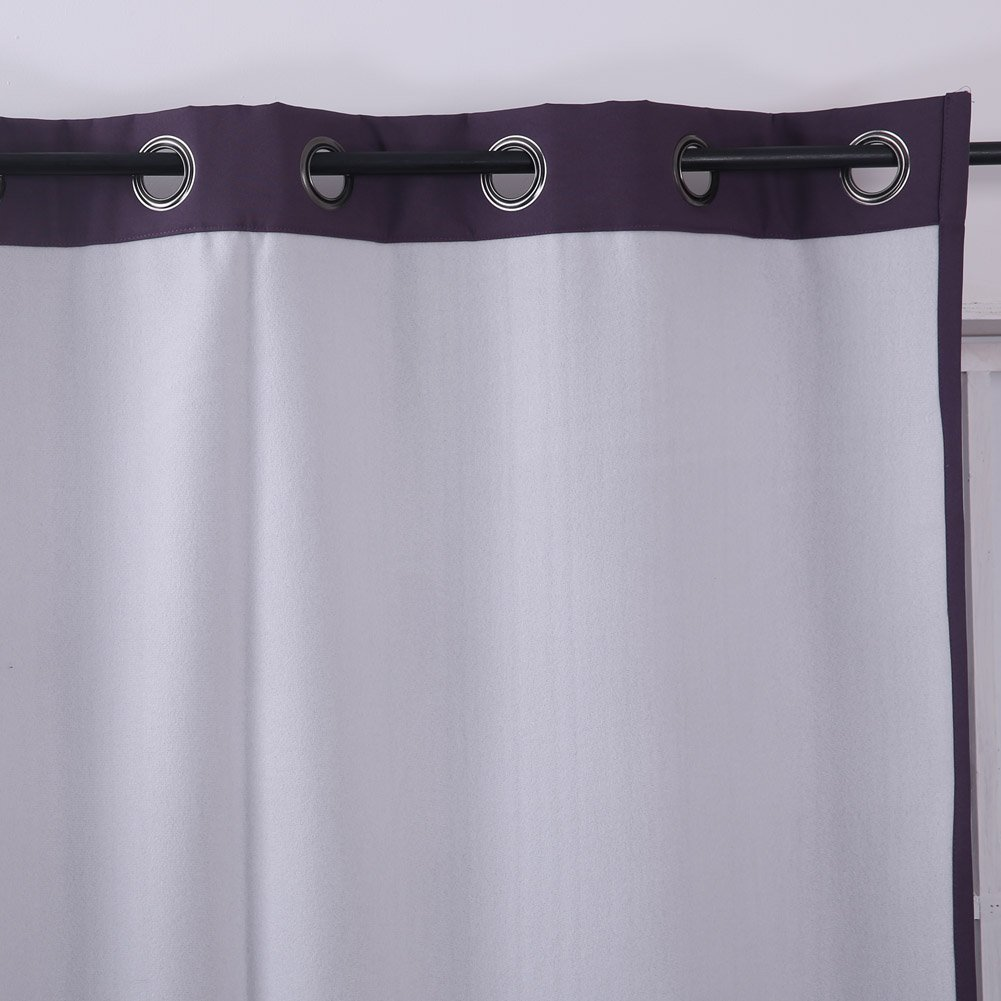1 Pair Oxford Curtain CT0085D-1 Deconovo Solid Thermal Insulated Super Thick Lined