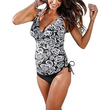 9aad6a7cf20eb Hibote Maternity Tankinis Swimsuit