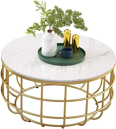 Mesas Redondas Mesa de Centro Mesa de Centro Mesa Decorativa Mesa Decorativa para Sala de Estar Oficina balcón decoración Marco Dorado de mármol,40/60/70 cm: Amazon.es: Hogar