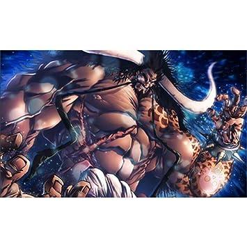 One Piece Luffy Poster Comic Japanese Samurai Cartoon 3D Art Mural ...