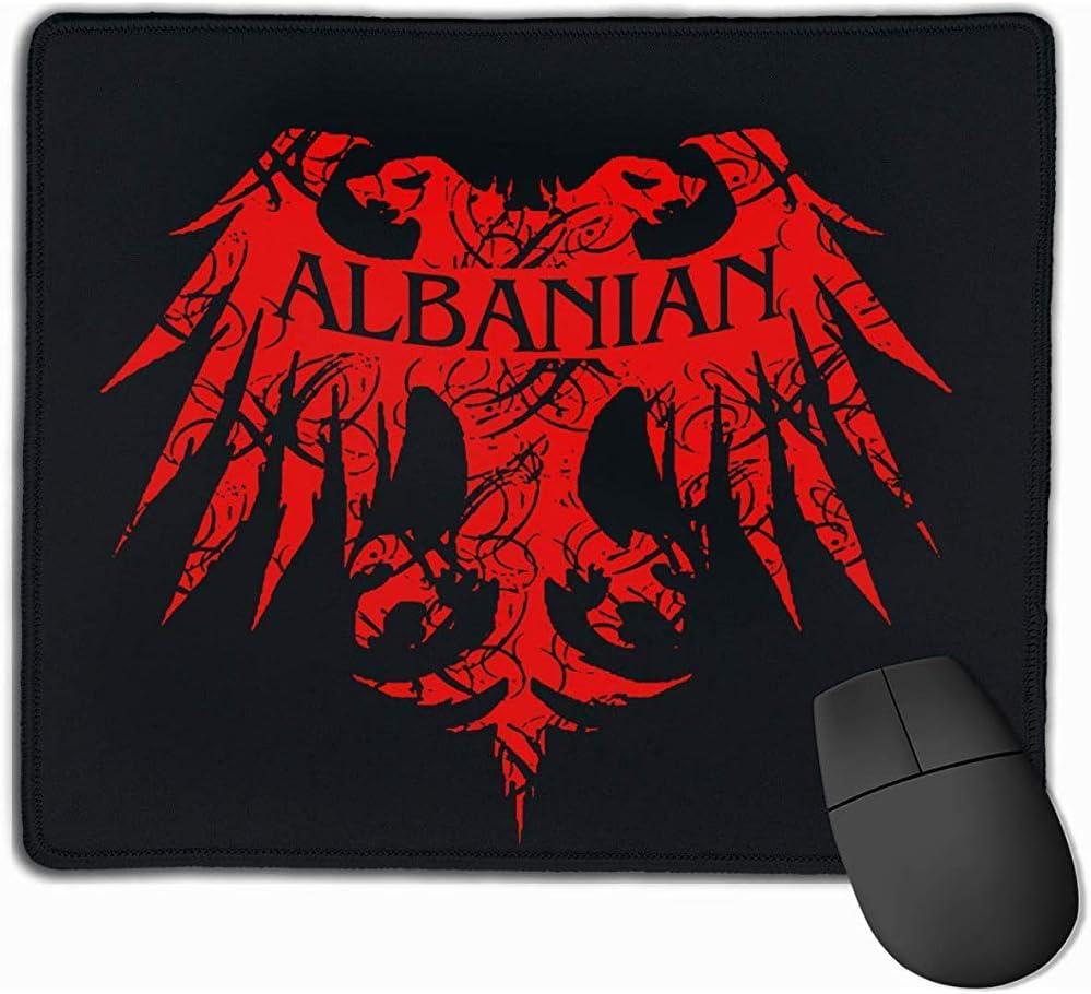 Gaming Mouse Pad Albanés Rectángulo Alfombrilla de Goma Antideslizante 25X30Cm