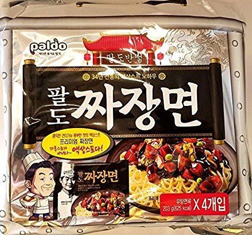 Paldo Premium Jjajang Noodle 4-Pack (Instant Bean)