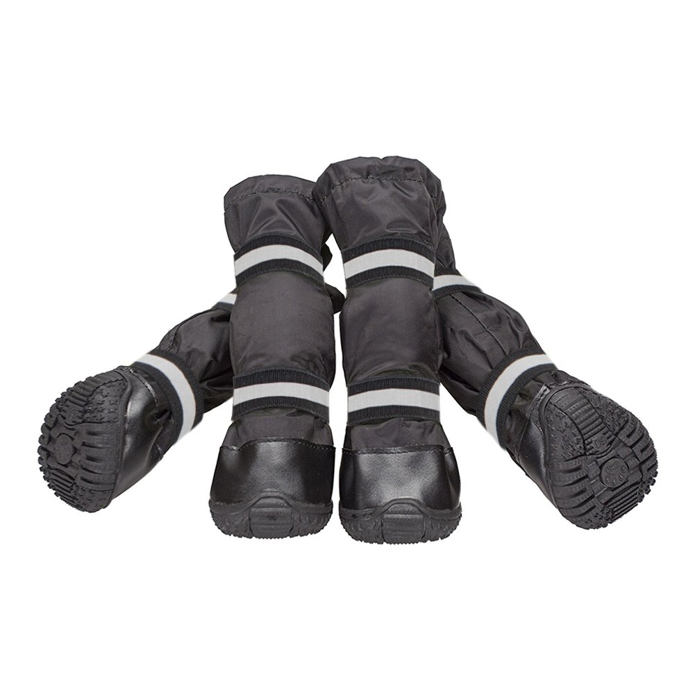 Black  5  3.54\ Black  5  3.54\ LESYPET Dog Waterproof Boots Pet shoes for Medium to Large Dogs in Rainy or Snow Weather
