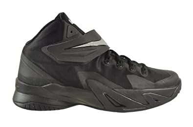 Nike Soldier VIII 8 (GS) Big Kids Shoes Black/Metallic Silver 653645-