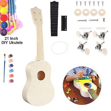 chenlee - Ukelele de Concierto de 21 Pulgadas, Divertido Guitarra Hawaii Que Hace tu Propio