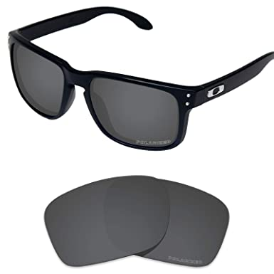 7b3a93d4ee Tintart Performance Lenses Compatible with Oakley Holbrook XL Polarized  Etched-Carbon Black
